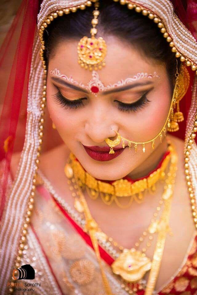 Gorgeous bengali bridal look