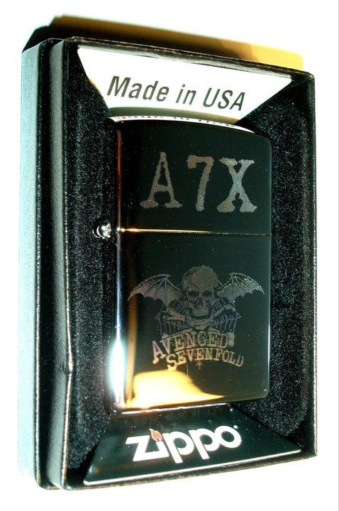 Avenged Sevenfold authentic Zippo lighter by JollyPendantCompany, $29.75