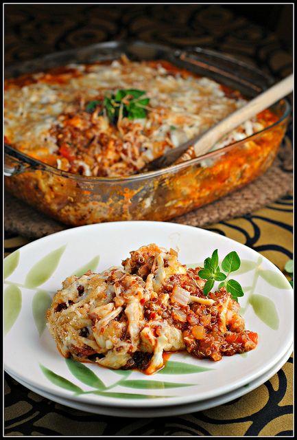 Baked Quinoa & Chicken Parmesan
