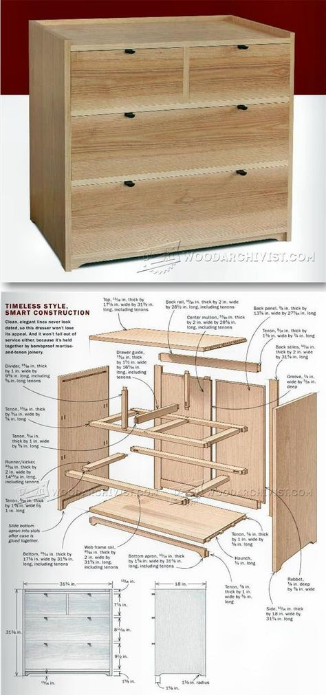 Small Chest of Drawers Plans - Furniture Plans and Projects | WoodArchivist.com