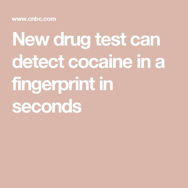 New drug test can detect cocaine in a fingerprint in seconds