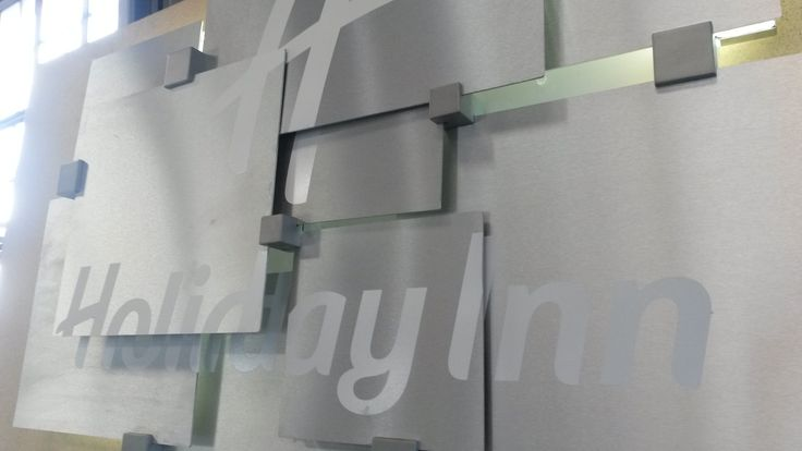 Reception Sign at Holiday Inn. #signage #aluminium #hotel #artwork https://www.facebook.com/SignageProductionStudio http://spstudio.co.za/