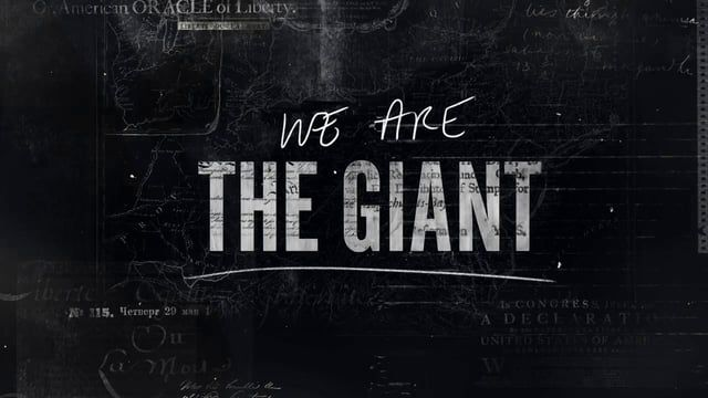 """Titles and graphics for director Greg Barker's documentary, """"We Are The Giant"""", a Passion Pictures & Motto Pictures Production that premiered at this year's Sundance Film Festival.  Creative Directed & Designed by Manija Emran http://www.manijaemran.me  Produced by Mill Plus themillplus.com"""