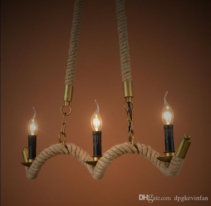 candle decorative modern pendant lamp. rope candle chandelier wrought iron pendant light retro clubhouse hotel restaurant personality decorative lamp modern