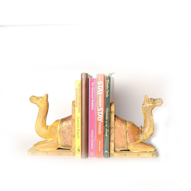Camel Book Ends Or Book Stoppers, Copper Artwork