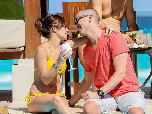 Ashley Hebert, J.P. Rosenbaum show love in Cancun