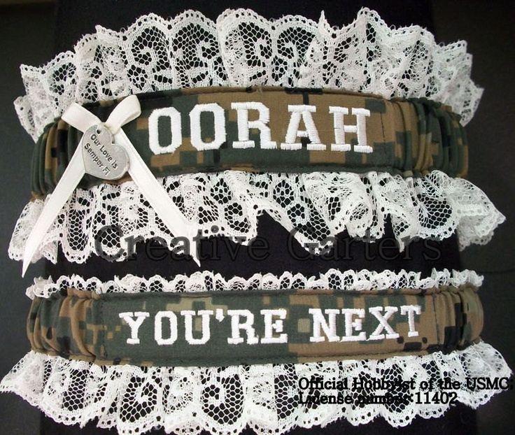 Military Marine Wedding Garters - Personalized Garters. – Creative Garters