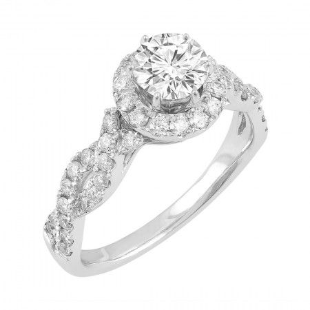 Love by Michelle Beville 18ct White Gold 1.32ct of Diamond Solitaire Ring. Available in stores or online - 9B55000