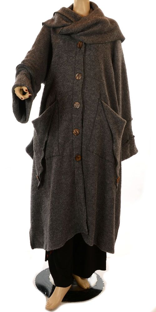 Yiannis Karitsiotis Limited Versions Fabulous Wool Mix Coat - this sort of reminds me of the Grim Reaper but I'd love it during the winter