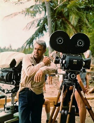 Cary Grant on the set of Father Goose  One of my favorite movies to watch as a kid.
