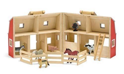 Houten speelgoed boerderij met dieren - Speelgoed van hout, kinder verkleedkleding, speelgoed poppen en pluche knuffels