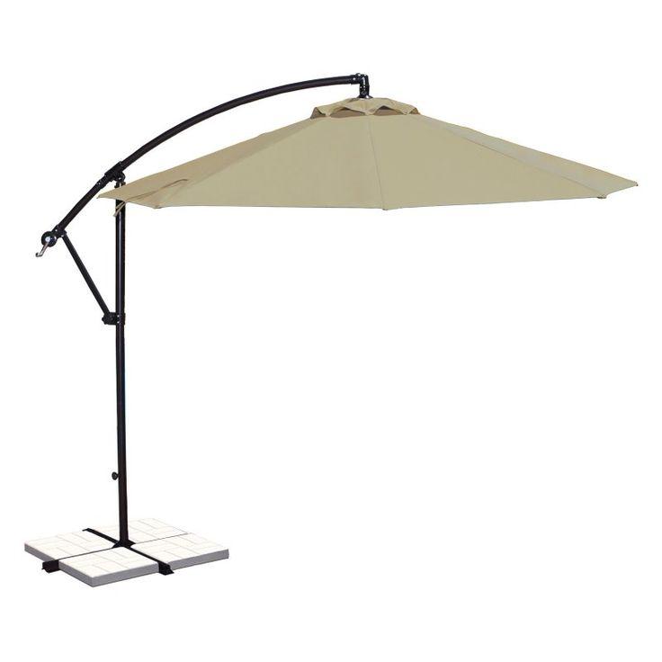 Island Umbrella Santiago 10 ft. Octagonal Cantilever Sunbrella Umbrella Beige - NU6400B