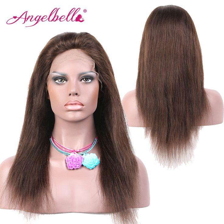 Angelbella Brazilian Long Wigs Safe Online Shopping Straight Hair Wigs #4 Brown 100 Human Real Hair Wigs Fashion Online Shop