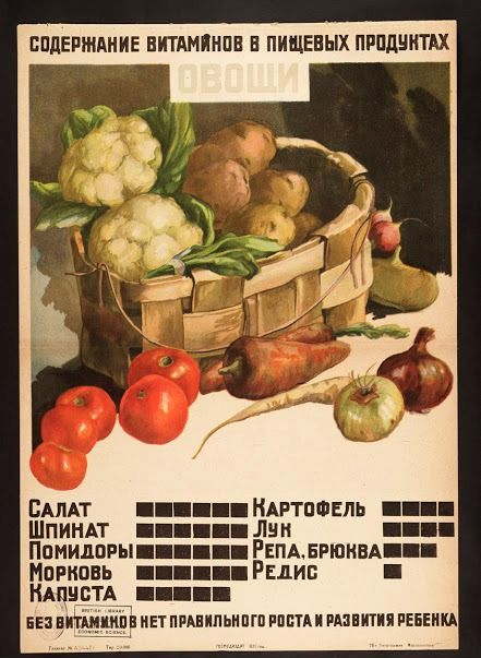 Советские плакаты по уходу за детьми,1930 год
