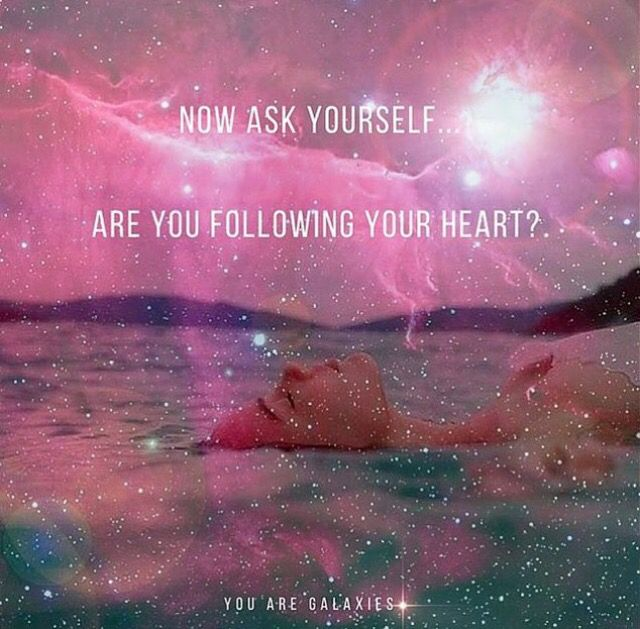 Always follow your heart, it knows things your mind can't explain.