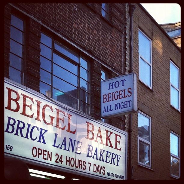 Best bagels in all of London at Beigel Bake on Brick Lane