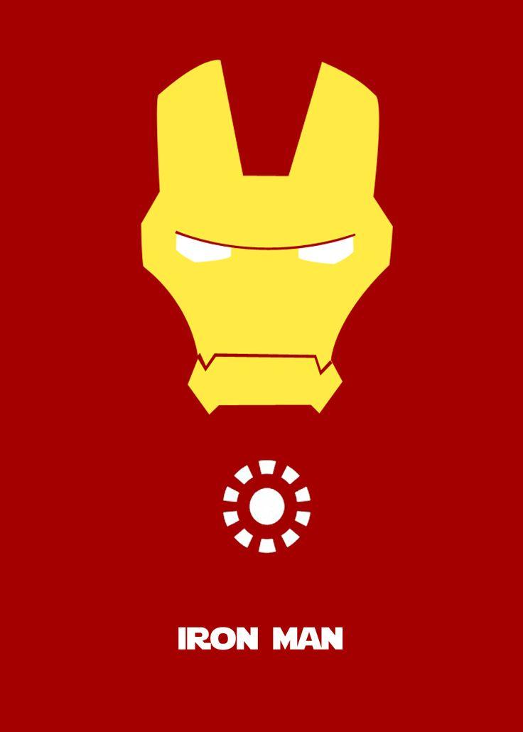 Diseño Grafico Photoshop Cartel Minimalista Iron Man