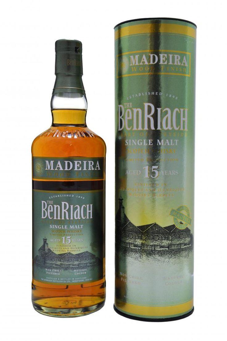 Benriach 15 Year Old Madeira Finish Speyside Whisky Single Malt Whiskey Whisky