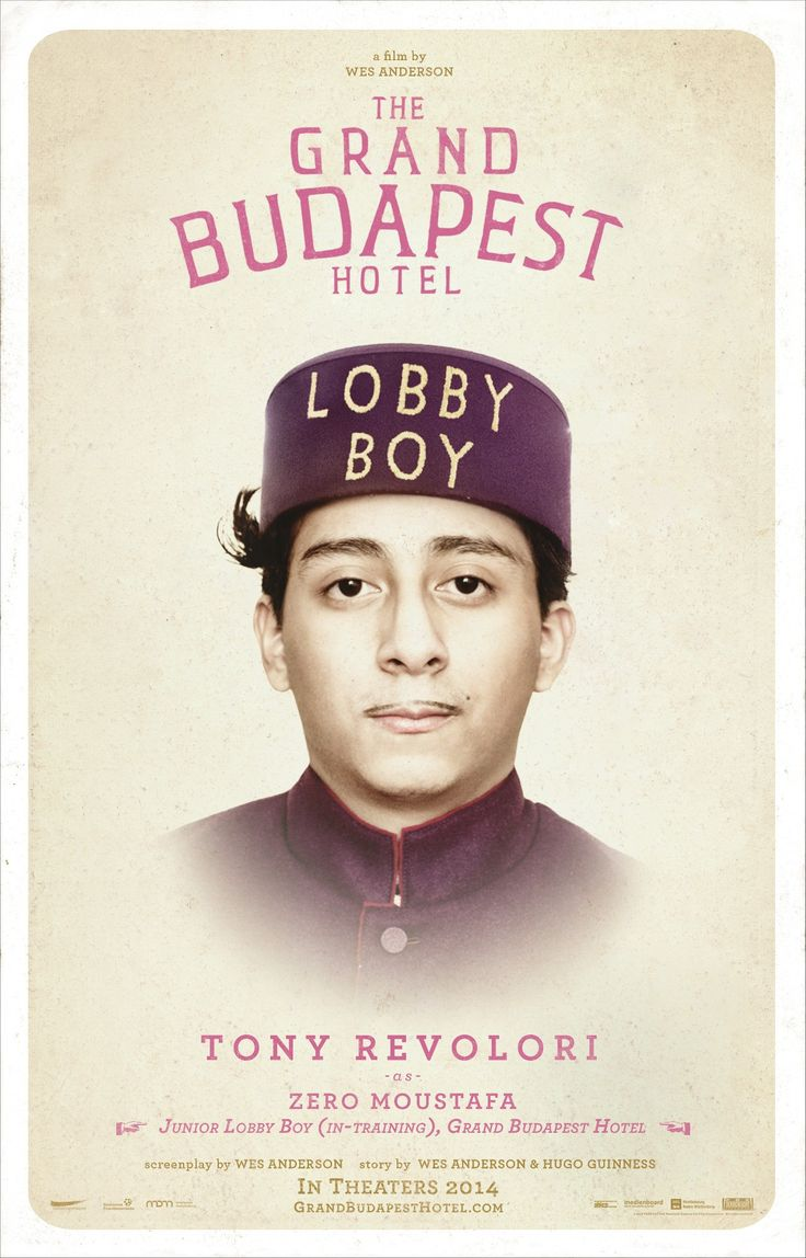 The Grand Budapest Hotel--Introducing Tony Revolori as Zero the Lobby Boy