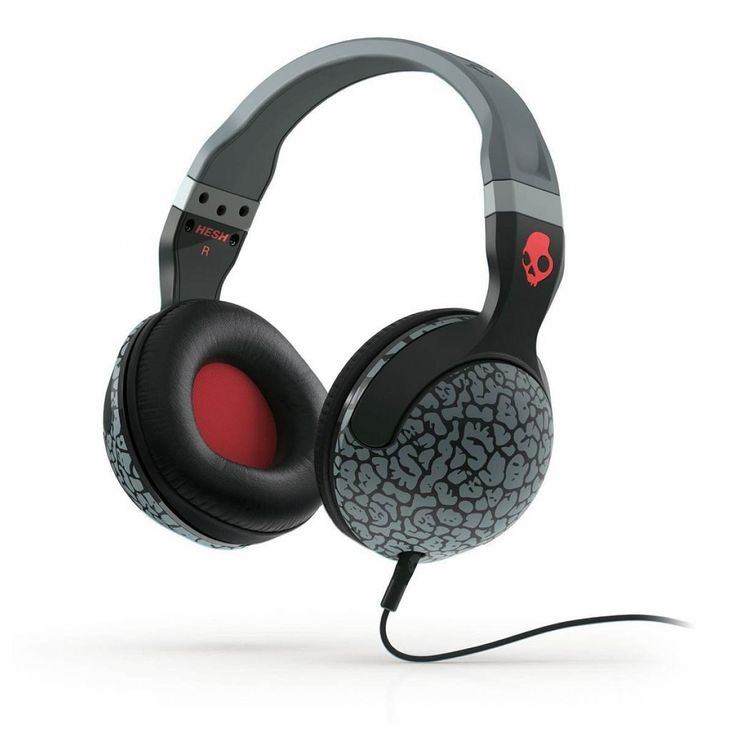 Skullcandy Hesh 2.0 Headphones in Elephant Gray/Gray/Red with Mic