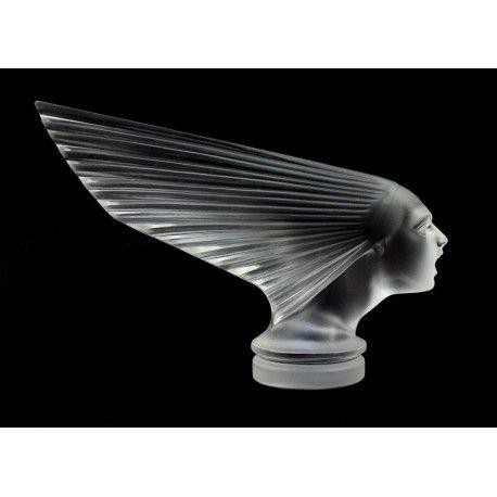 Antique Bohemian Art Deco Glass Car Mascot VICTOIRE Design H.Hoffmann