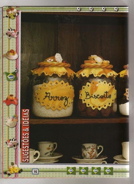 Porcelana fria Decoracion de frascos