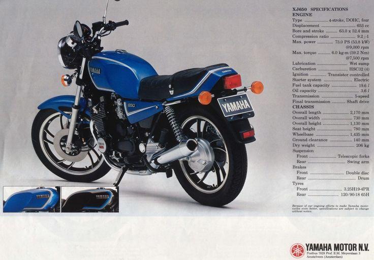Yamaha XJ650 ad.