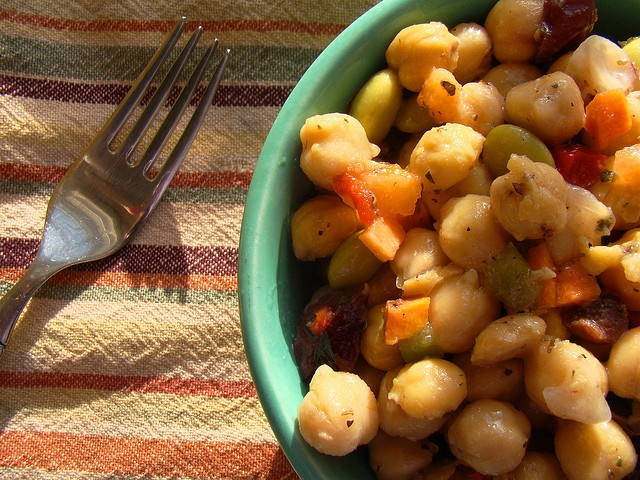 Autumn Chickpea Salad  Chickpeas have a boatload of protein in them, and it never hurts to add few extra to your diet in place of meat!