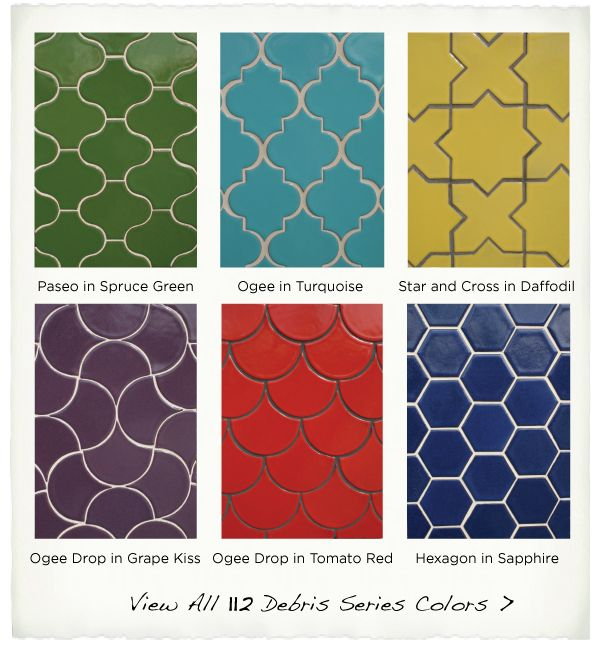 the tile motherlode... ogee, star and cross, hex, drop + more