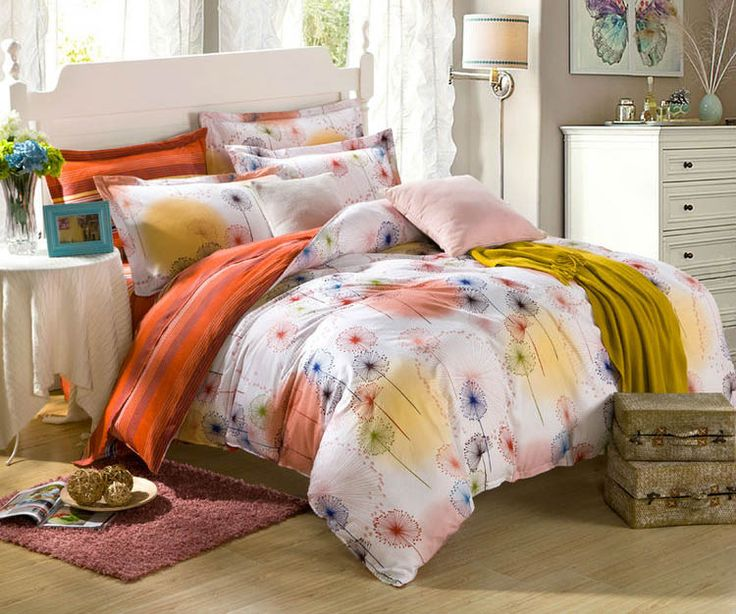 Orange bedding set