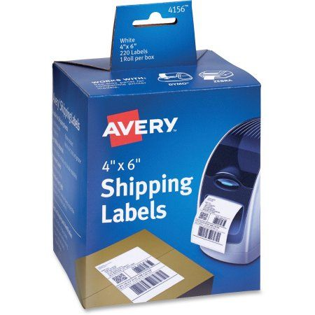 Avery Thermal Printer Shipping Labels, 4 x 6, White, 220/Roll, 1 Roll