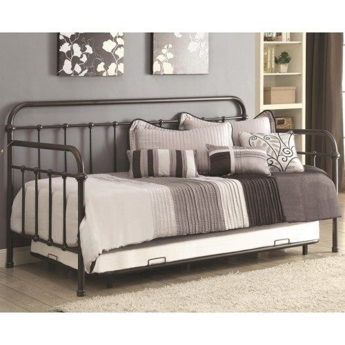 Lynnwood..Coaster Daybeds by Coaster Daybed with Trundle and Metal Frame - Coaster Fine Furniture