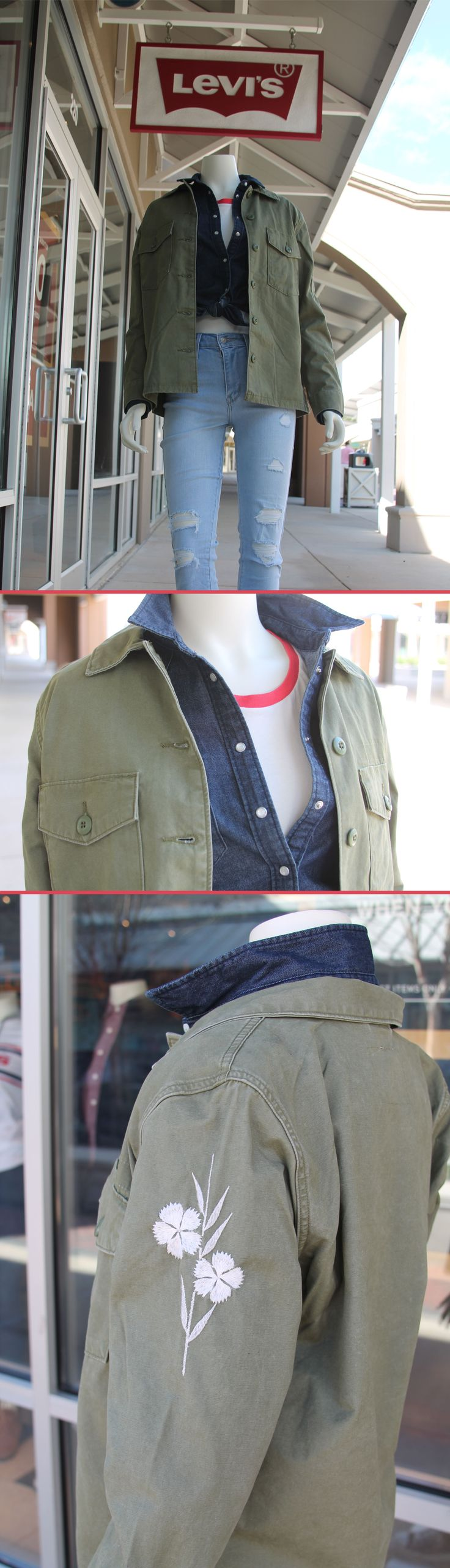 Mix your denim hues this Spring!  Get this look at Levi's Outlet Store at the Outlets of Mississippi in Pearl, MS!
