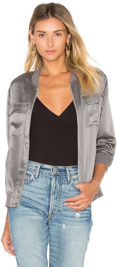 Equipment Abbot Satin Bomber | Silk bomber jacket, Jackets ...