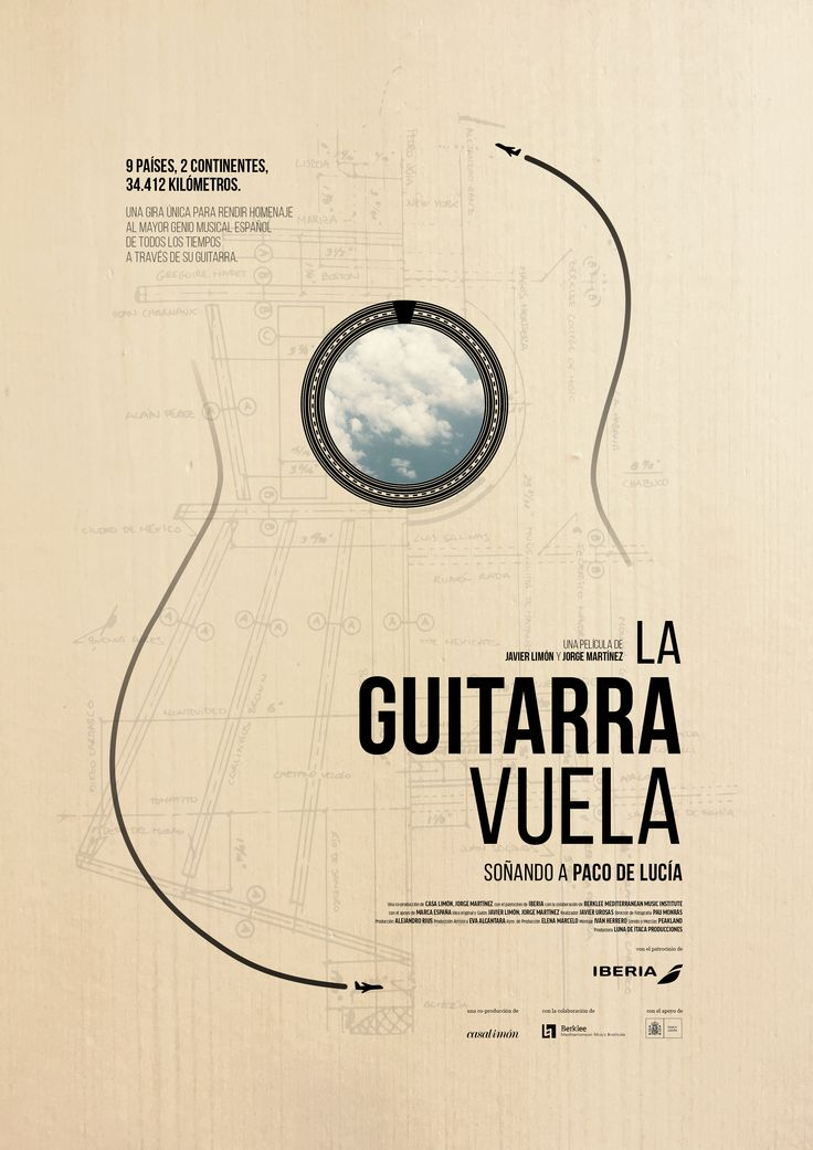 Una guitarra, nueve países, grandes artistas, un documental, un disco, una beca, un concierto y un avión. #laguitarravuela