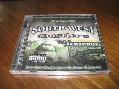 Chicano Rap CD & DVD Southwest Hustlers Vol 3 - CONEJO Dyablo Duende Sangre Mala