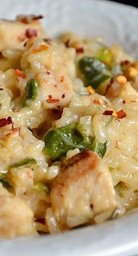 Spicy Chicken Poblano Risotto....