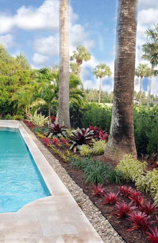 28 Refreshing Tropical Landscaping Ideas Backyard Pool Landscaping Tropical Landscaping Pool Landscaping