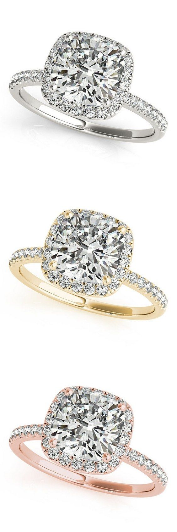 Cushion Cut Engagement Ring / http://www.himisspuff.com/engagement-rings-wedding-rings/2/