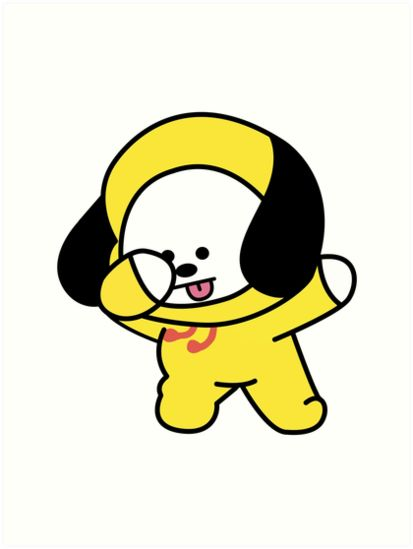 Chimmy Dabbing Bts Bt21 Art Print By Kpopgroups In