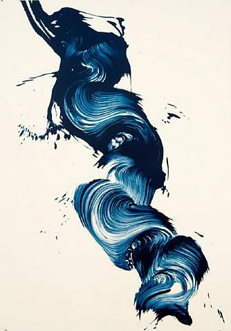 I find it crazy how something as simple as a brush stroke can make a work of art.        Painting by: James Nares