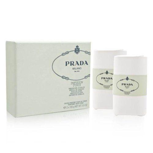 PRADA INFUSION D`IRIS by Prada Gift Set for WOMEN: BATH SOAP 3.5 OZ (QUANTITY OF TWO)