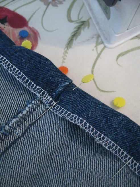 Canadian Crafter: Hemming Jeans, A Tutorial for new hem.