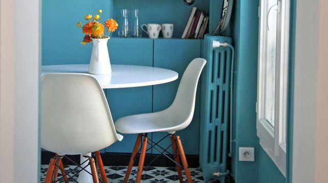 Les 25 meilleures id es de la cat gorie cuisine turquoise sur pinterest armoires de cuisine for Peinture sur carrelage cuisine