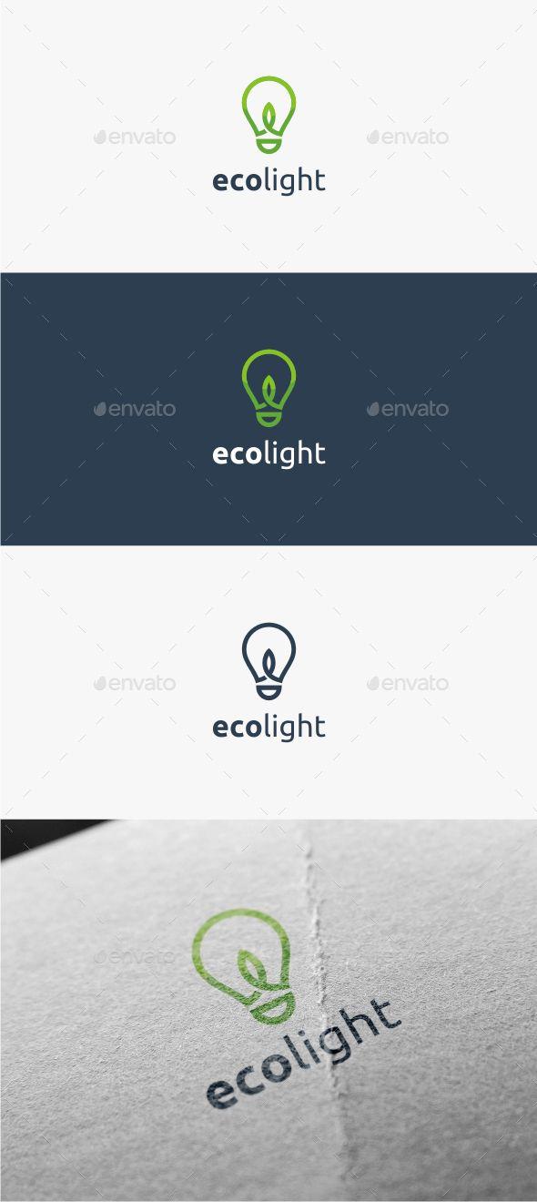 Eco Light - Logo Template #design #logotype Download: http://graphicriver.net/item/eco-light-logo-template/11381263?ref=ksioks