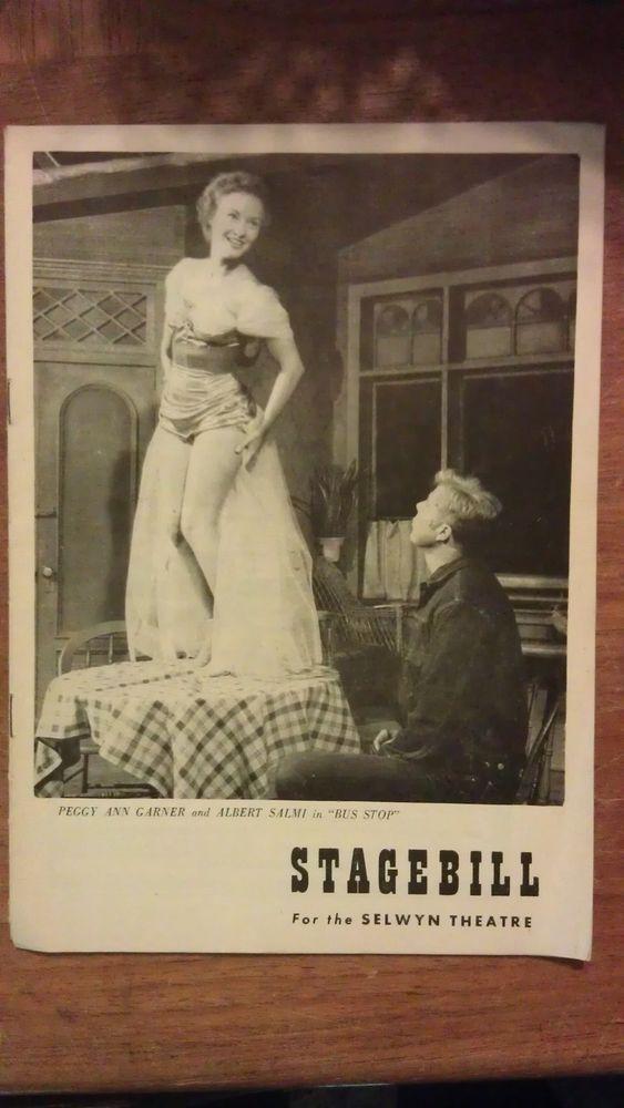 "Stagebill for Selwyn Theatre, ""Bus Stop"" ft. Peggy Ann Garner and Albert Salmi"