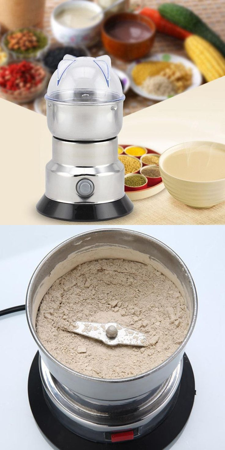 [Visit to Buy] coffee bean corn Grinder machine,electric coffee mill Beans Nuts Grinding Machine #Advertisement