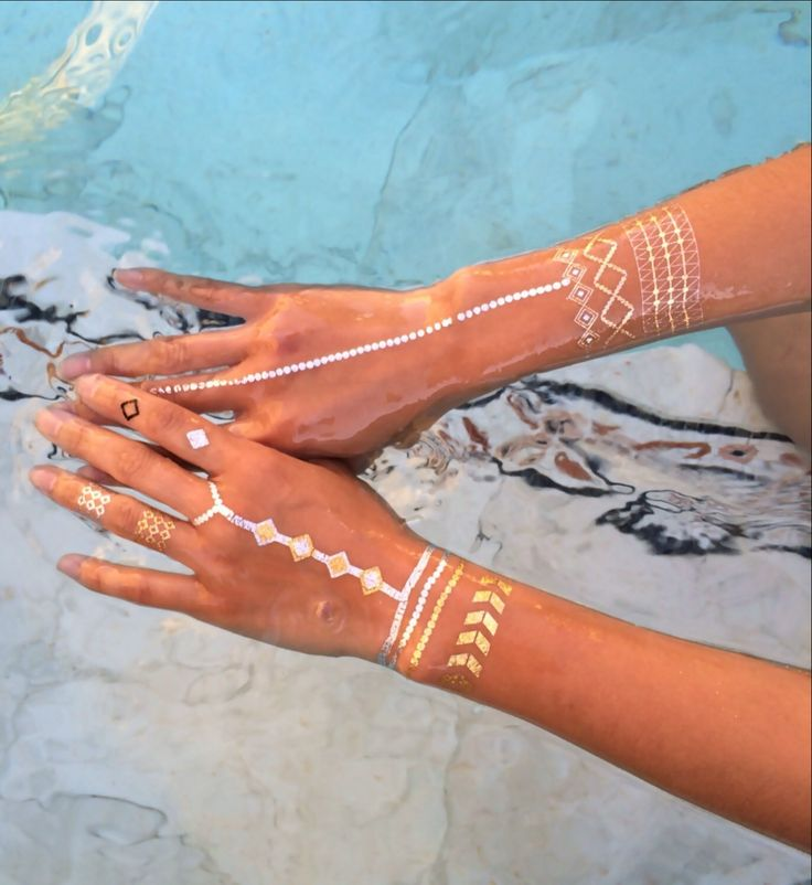 77 best gold foil tattoo images on pinterest gold tattoo for Gold foil tattoo