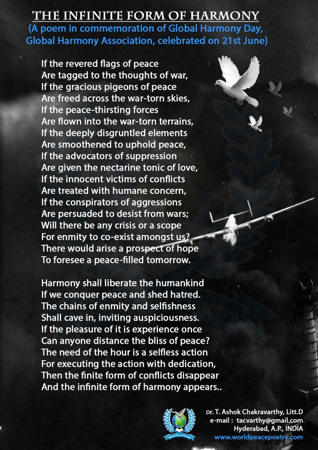 THE INFINITE FORM OF HARMONY (A poem in commemoration of Global Harmony Day,  Global Harmony Association