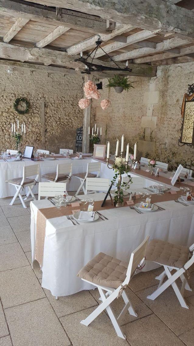 Blush themed wedding in a French chateau